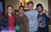 Backstreet Boys backstage after an interview with me. 2008.