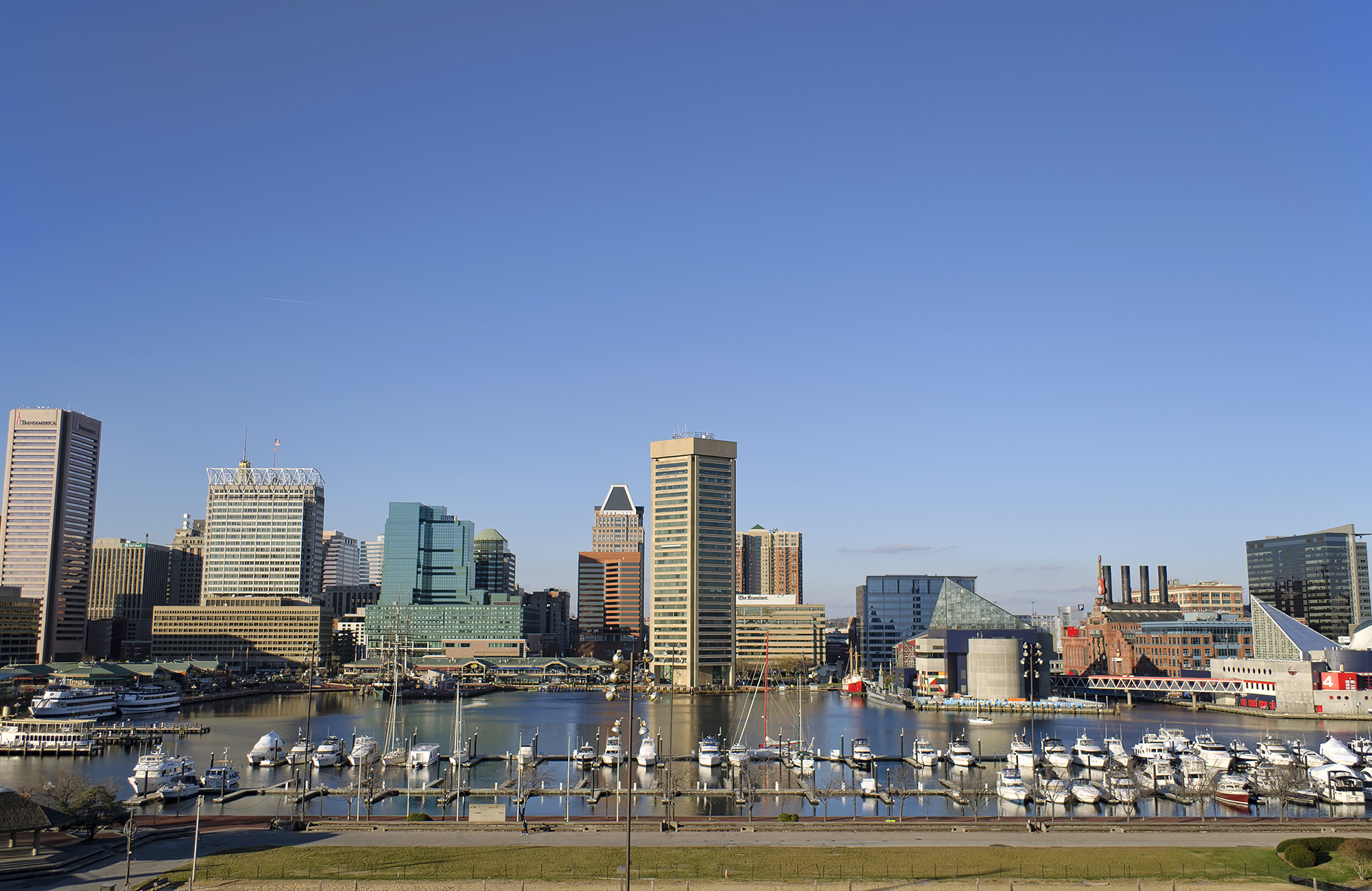 The Inner Harbor of Baltimore, MD.