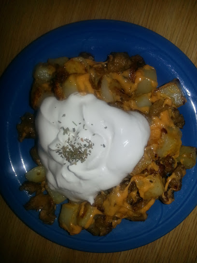 I may have overdid it with the sour cream in my bowl just a bit. I got excited to dollop!