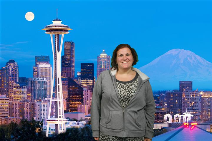 The Space Needle provides this souvenir photo for free.