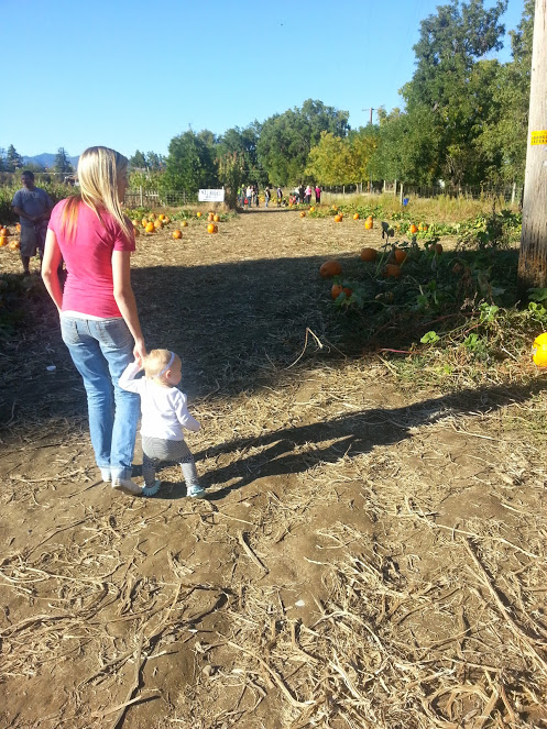 Pumpkin patch with my friends. Tanisha and little miss Hattie are pictured.