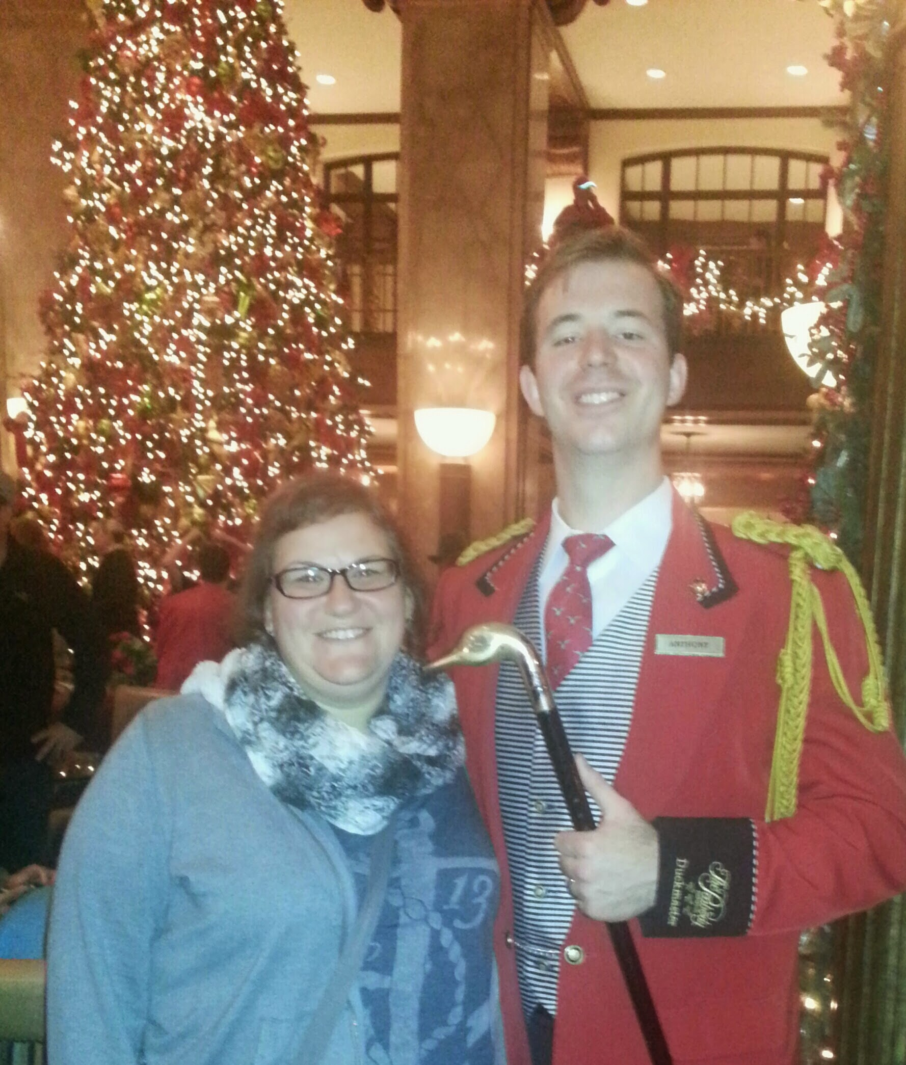 Me with the Peabody Hotel Duckmaster.