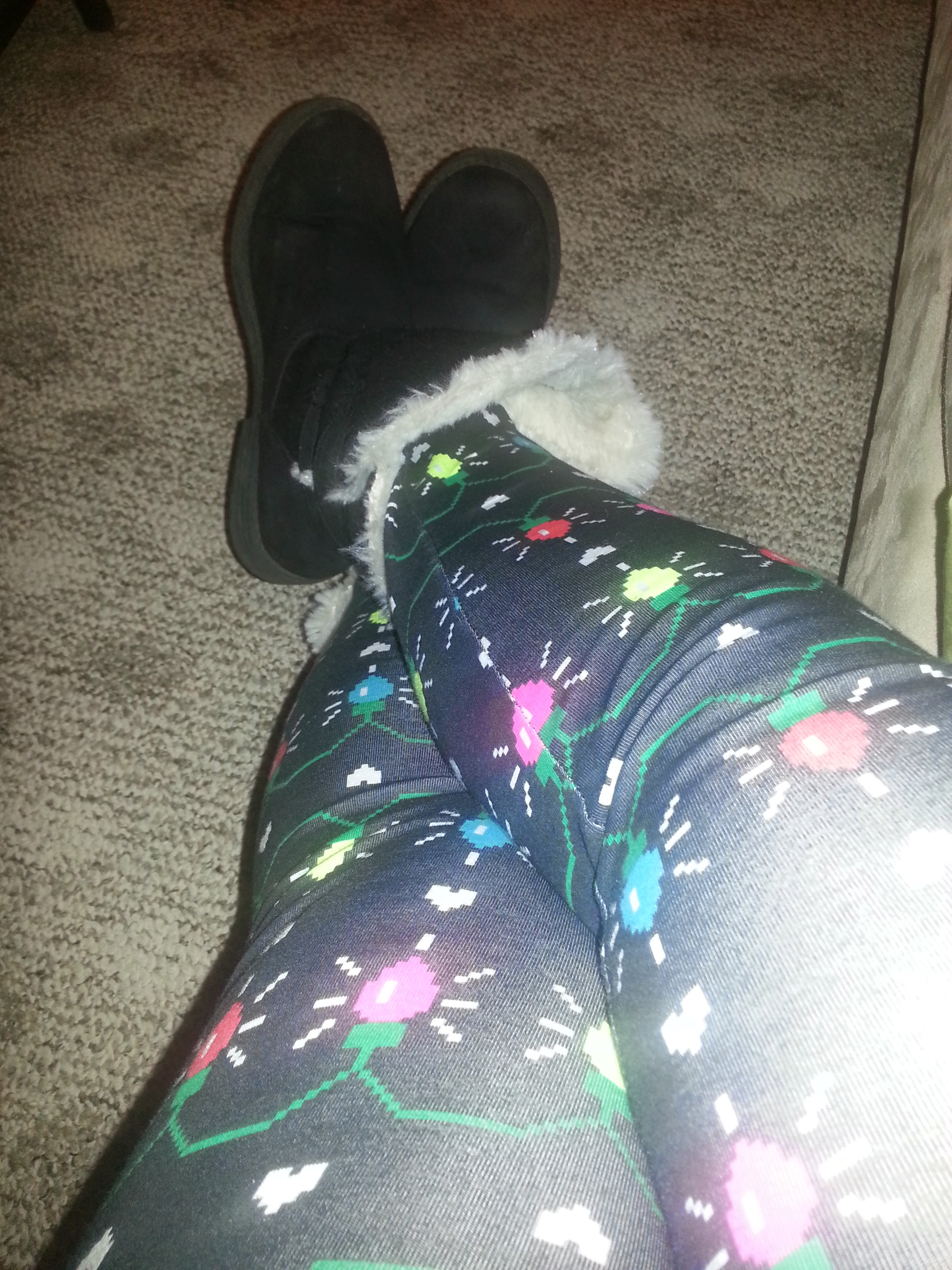 My holiday pants to look at Christmas lights.