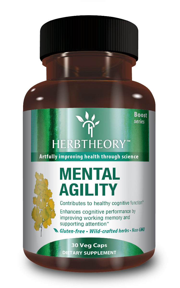 Mental Agility from HerbTheory.com, $27.95, is made from wild-crafted herbs.