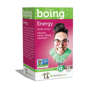 Boing - BioTerra Herbs Energy Booster, $19.99, can be found at Walmart and Walgreen's.
