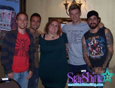 Backstreet Boys and me in 2008.