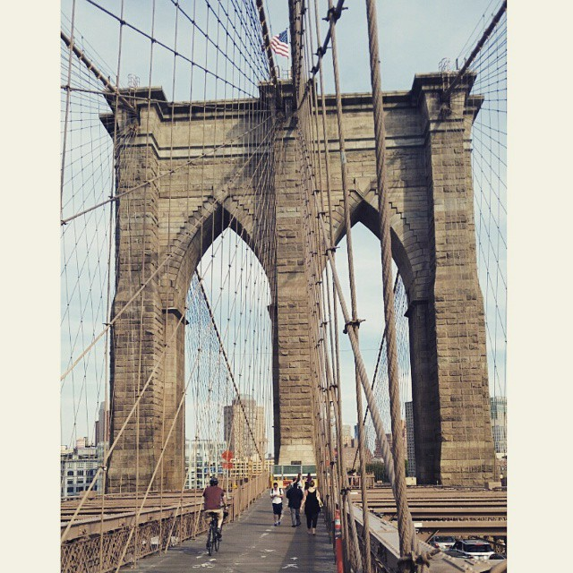 The Brooklyn Bridge taken from my phone.